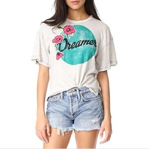 Free People Oversized Dreamer Graphic Knit Top
